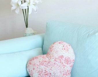 Liberty cotton 40x40cm pink heart cushion