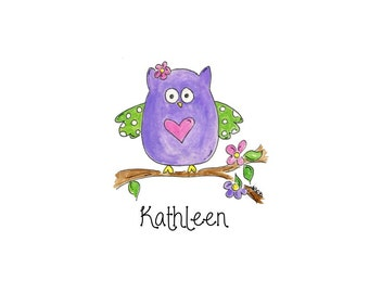 Purple Owl Notecards