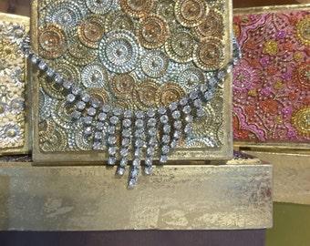 Diamanté Droplet Statement Necklace