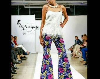 New Collection | Embellished Ankara Pants | ANKARA PRINT Bell Bottom PANTS | Print Pants | Kitenge Trousers