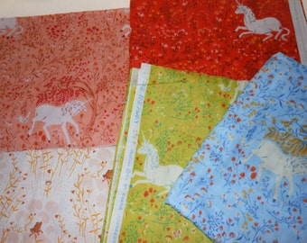 "Heather Ross Far Far Away 1,  ""5 Fat Quarter Bundle""   by Kokka.  OOP HTF"