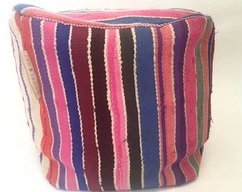 Spring sale! Handmade & unique kilim Moroccan pouf,poef,osmane,puff,ottoman,footstool,floorpillow