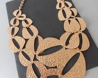 Chunky Rose Gold Chain Statement Necklace