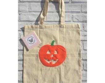 Trick or Treat bag, Halloween bag,  pumpkin bag, goodie bag, sweetie bag, candy bag