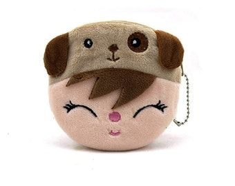 Puppy Hat on a Kid,  Fabric Coin Purse for Kids Coin Purse bhwg-coinp-0003-001-001-001-001-001