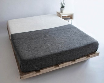 Lesley Platform Bed | Reclaimed | Bespoke | Bedroom | Japanese Style | Solid Wood | Bed | Any Size