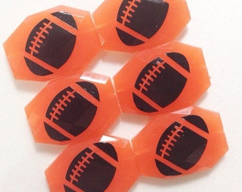Football on your choice of bead color - jewelry making, bangle bracelet, gift, handmade beads