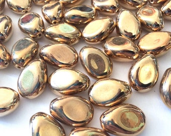 Metallic Gold Nugget Acrylic Bead - 20mm - Bangle Necklace Earring Jewelry Making Beads