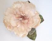 velvet rose corsage. velvet rose . velvet cabbage rose by Miss Rose Sister Violet. millinery rose.