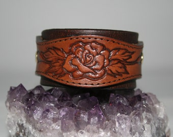 Leather cuff bracelet - handmade - one of a kind - Cuff You by Suz