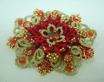 "brooch handmade ""Luxury"""