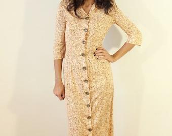 Mid Century Modern Abstract Vintage Dress