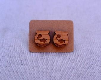goldfish bowl earrings