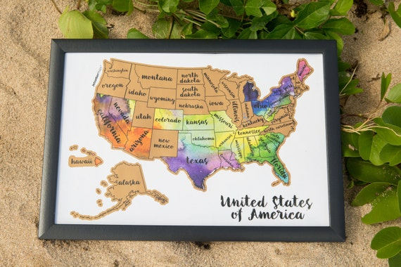 Ships Fast Scratch Your Travels USA Map United States Of - Us scratch off map