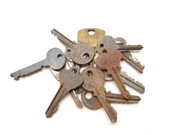 Vintage Grungy Rusty Old Keys