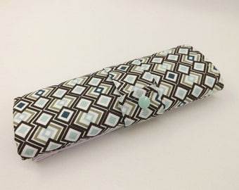 Travel changing pad-Argyle brown and mint.  Travel changing mat/Portable changing pad/Diaper changing mat/Baby Changing Pad/Baby Accessories