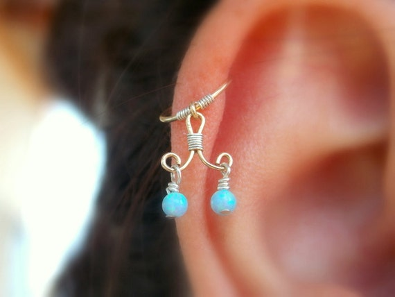 unique cartilage opal earring one of a helix piercing