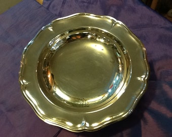 Silver plated pedestal dish