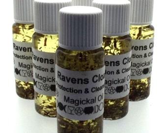 Ravens Cloak Magickal Herbal Anointing Incense Oil