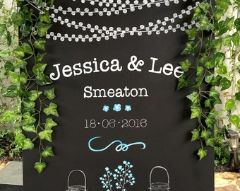 Wedding chalkboard/ wedding sign/ chalkboard sign/ home decor/ Chalk art/ Samdi (3)