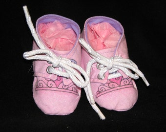 Baby Girls Princess Sneaker Style Booties