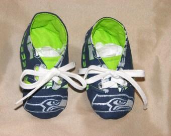Seattle Seahawks Sneaker Style Baby Booties