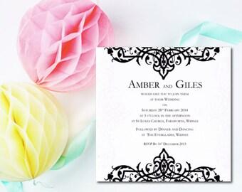 20 Wedding Invitations - Eloise