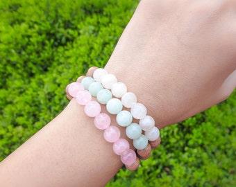 Rosewood / Gemstone Fertility, Pregnancy, Mommy Bracelet