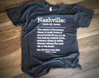 Defining Nashville Hometown T-shirt (heather black)