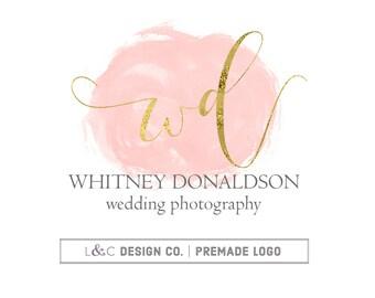 Premade Logo Design - Calligraphy Intitial Watermark Logo - Photography Logo - Boutique Logo - Small Business Logo