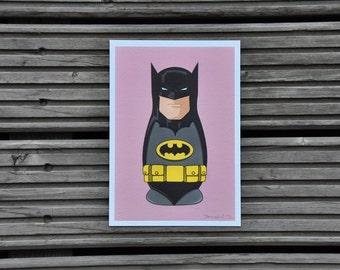 Batman Matryoshka   A5 size   210x148 mm