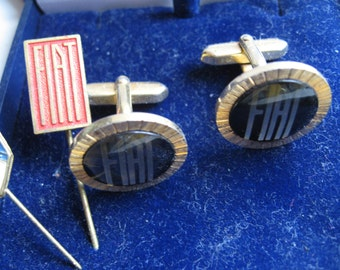 vintage fiat cufflinks 50s oldtimer 500 abarth fifties cuff links