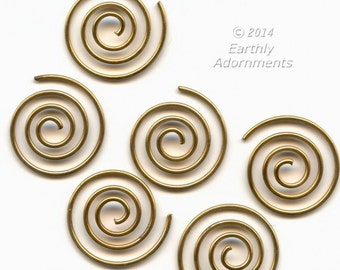 Oxidized brass wire spirals, from a designer's warehouse. 14mm diameter, package of 20. b9-2334(e)