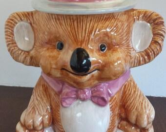 SALE Vintage Treasure Craft Koala Bear cookie jar
