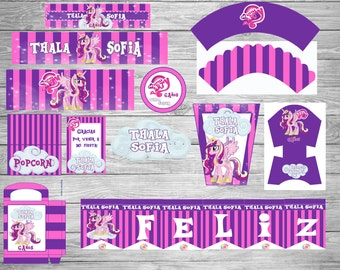 NEW!! My Little Pony!! Printable Party Set!Customize!!
