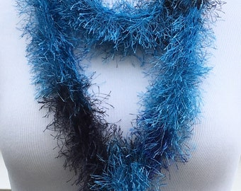 Blue Scarf Knitted Winter Fashion Scarf