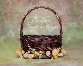 Easter digital background ( PSD file) with hiding layer