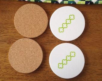 Coasters in Green