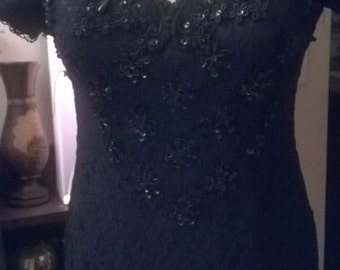 KENZO vintage long Black Lace dress