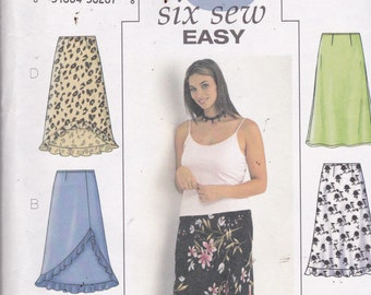 Butterick 3783 Vintage Pattern Womens Skirt in 6 Variations Size 22, 24, 26 UNCUT