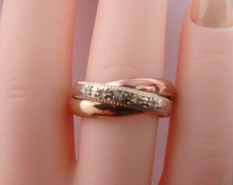 Yellow Rose Gold Diamond Ring