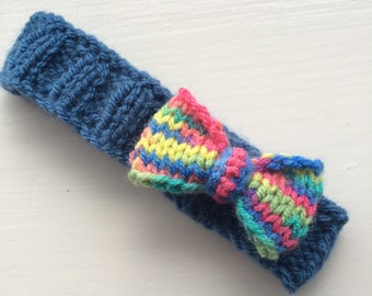 Baby headband knitted headband bow baby girl baby gift knit baby clothes cute