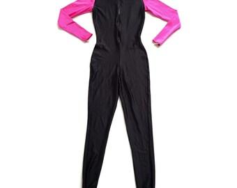 90's Neon Pink Full Bodysuit Wetsuit