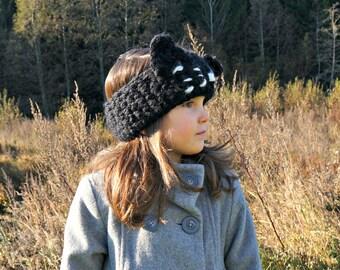 CROCHET PATTERN - The Kitty Kat Headband