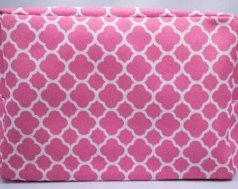Cosmetic Bag-Make Up Bag-Toiletry Bag-Pink-Quatrafoil-Luggage