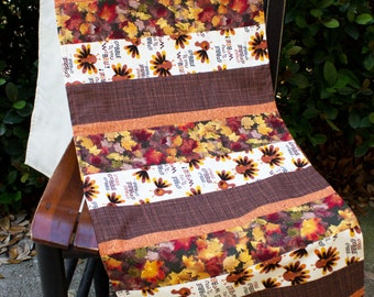 Tablerunner, Turkey, Fall Leaves, Gobble