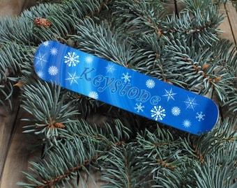 Mini Snowboard metal Christmas Tree Ornament