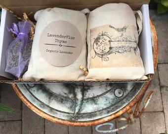Organic lavender sachet set of 2