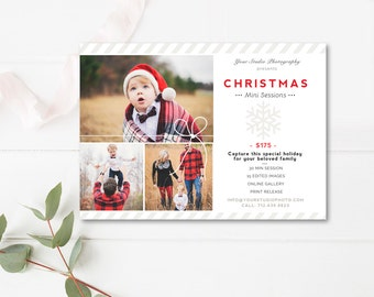 Christmas Mini Session Template, Holiday Mini Session Templates for Photographers, Christmas Marketing Board, INSTANT DOWNLOAD!