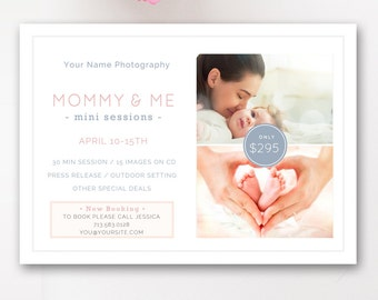 Mommy & Me Marketing Board, Mother's Day Mini Session Template, Mothers Day Photography Board - INSTANT DOWNLOAD